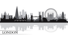 London City Skyline Silhouette Background