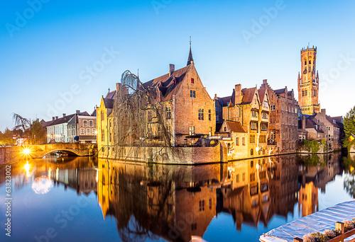 Foto op Canvas Brugge Brugges