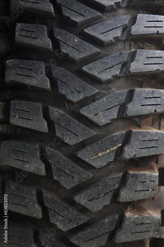 In de dag Fiets 4x4 off-road vehicle truck tire