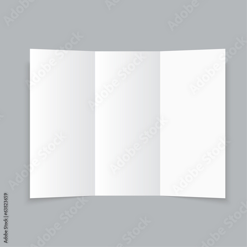 white stationery blank trifold paper brochure buy this stock