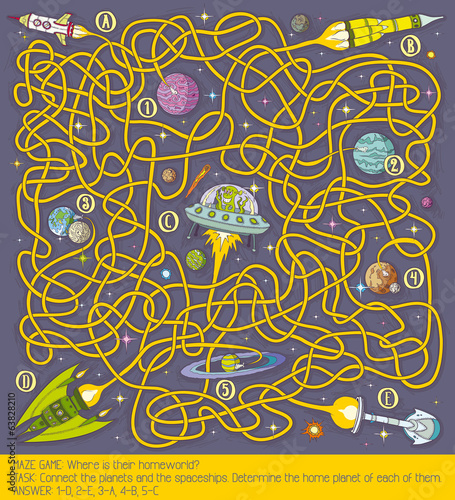 Photo  Space maze game