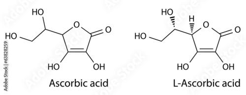 Structural chemical formula of ascorbic acid Canvas Print