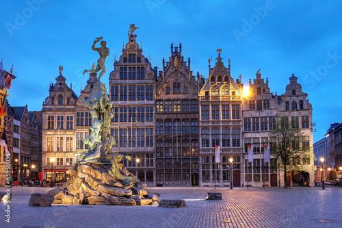Foto op Plexiglas Antwerpen Grote Markt, Antwerp, Belgium