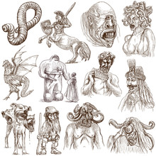 Myths And Legendary Monsters Around The World (white Set No. 1)