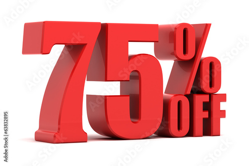 75 percent off promotion Poster