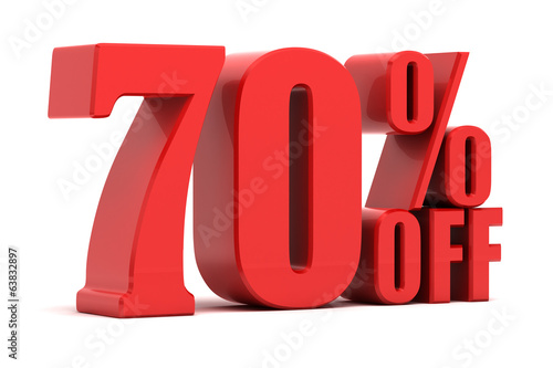 Fotografie, Obraz 70 percent off promotion