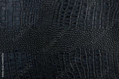 Poster Crocodile Black crocodile skin texture as a background