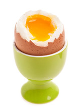Light Boiled Egg In Egg Cup Is...