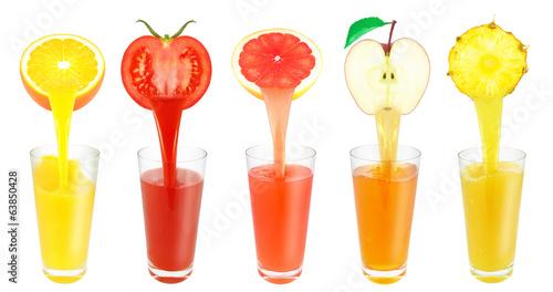 Poster Sap fruit juices