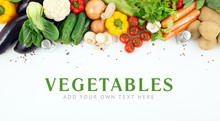 Vegetables Close-up With Space For Text.