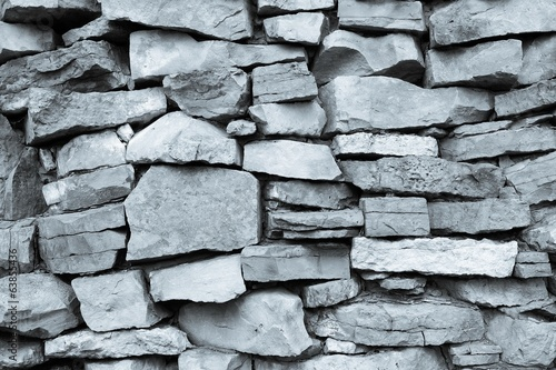 wall from a stone of monochrome tone