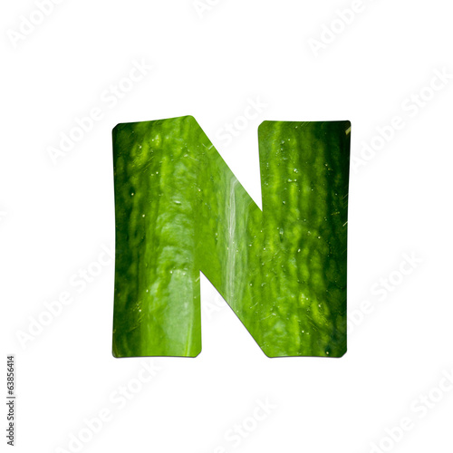 Poster Printemps fruits and vegetables - letter N