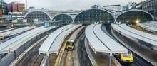 Train Leaves Paddington Railway Station In London, UK, Panorama