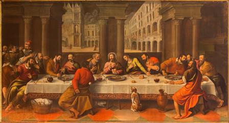 Fototapeta Dla Kościoła Bologna - Last supper of Christ by Cesare Conegliano
