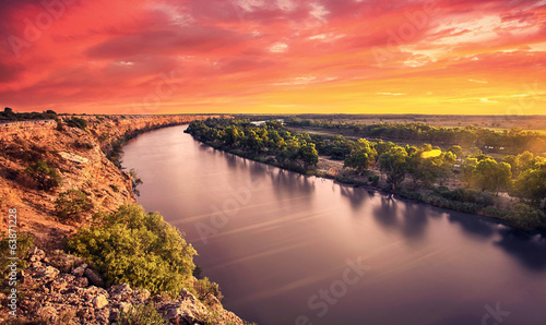 Canvas Prints Coral River Glory