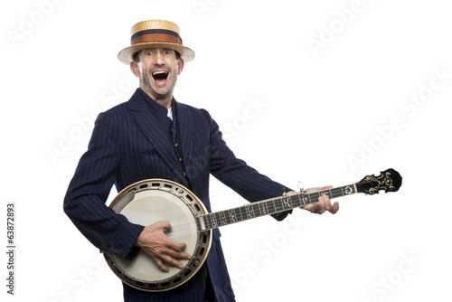 Crazy banjo man Wallpaper Mural