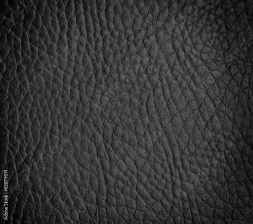 Deurstickers Leder seamless black leather texture
