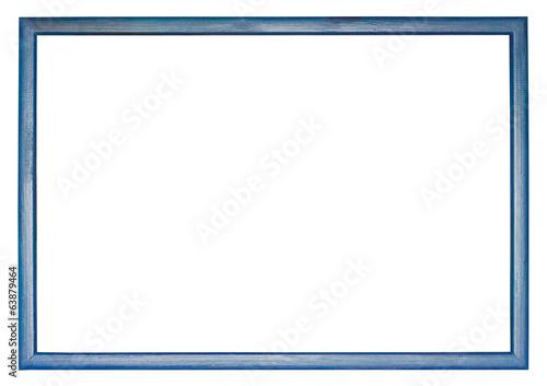 Fotografía narrow blue wooden picture frame