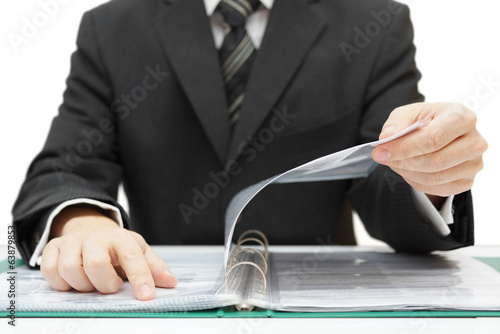 auditor checking documentation Canvas Print