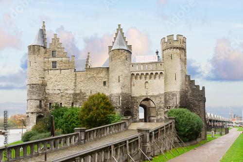 In de dag Antwerpen Het Steen castle, Antwerpen