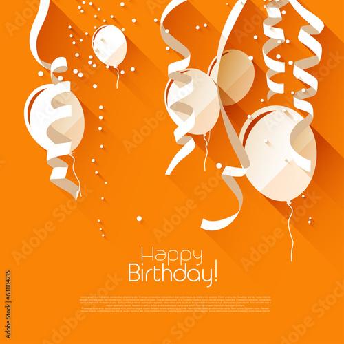 Obraz na płótnie Modern birthday background in flat design style