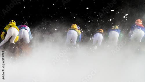 Fotografiet gara ippica sulla neve