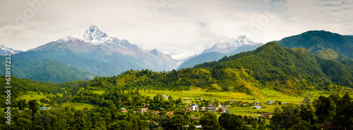 Canvas Prints Nepal Annapura Panorama, from near Pokhara