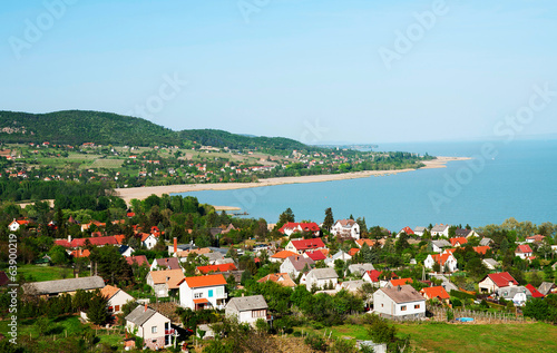 Photo  Little village at Lake Balaton, Hungary