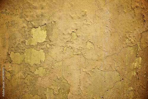 Foto auf AluDibond Alte schmutzig texturierte wand Orange