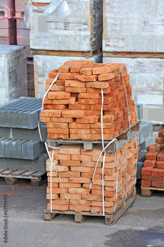 Stack Of Orange Clay Brick On Pallet Buy This Stock Photo And Explore Similar Images At Adobe Stock Adobe Stock