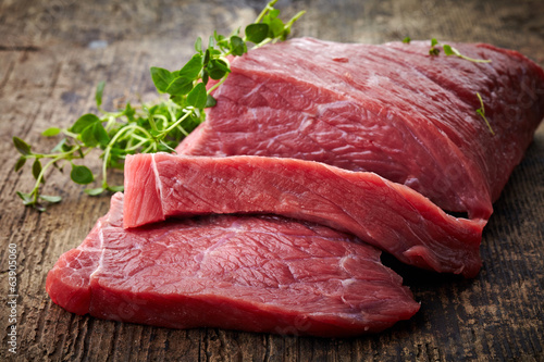 Deurstickers Vlees fresh raw meat