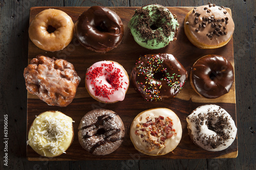 Assorted Homemade Gourmet Donuts Canvas Print
