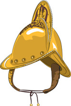 Vector Morion Helmet With A Crest