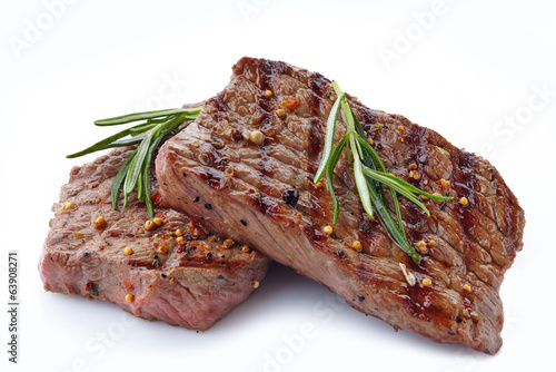 Deurstickers Steakhouse grilled beef steak