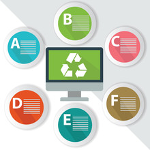 Recycle Infographics,for Text,Colorful Vector