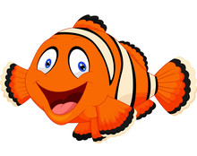 Cute Clown Fish Cartoon