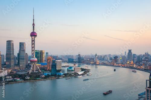Foto op Aluminium Shanghai beautiful shanghai at dusk