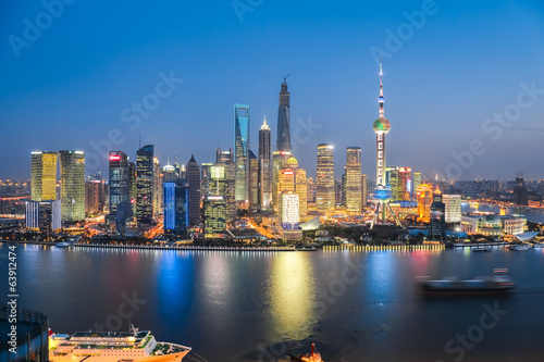 Foto op Aluminium Shanghai beautiful night in shanghai