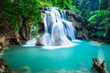 canvas print picture Huay Mae Kamin Waterfall in Kanchanaburi province, Thailand
