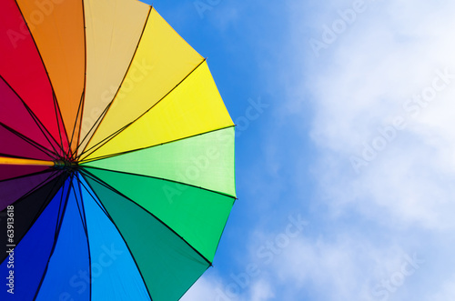 Valokuva  Rainbow umbrella's background