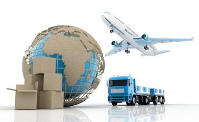 Fototapeta Shipping (cargo transportation)