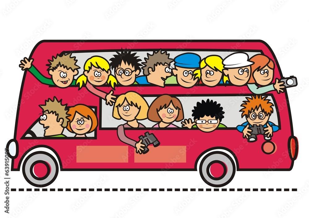 Картинки смешные про поездку на автобусе