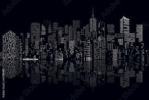 cityscape windows reflect - 63918481