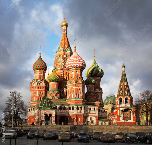 Photo  Moscow. St. Basil's Cathedral. Autumn