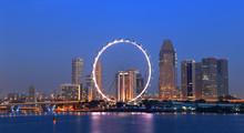 Singapore Cityscape During Twi...