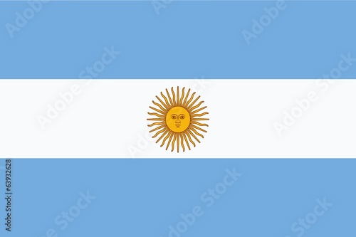 Flag of Argentina Canvas Print