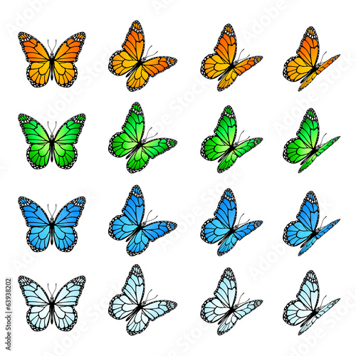 Set of butterflies #63938202