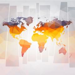 Naklejka modern concept of world map vector
