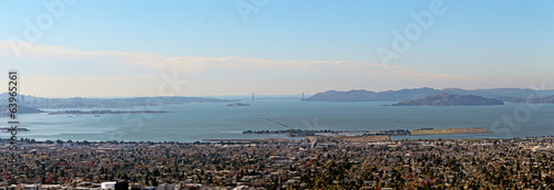 Fotografia, Obraz The Panorama from Berkeley Hills on Golden Gate Bridge