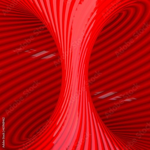Red Abstract Tunnel